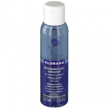 klorane desmaquillante waterproof ojos aciano 100 ml